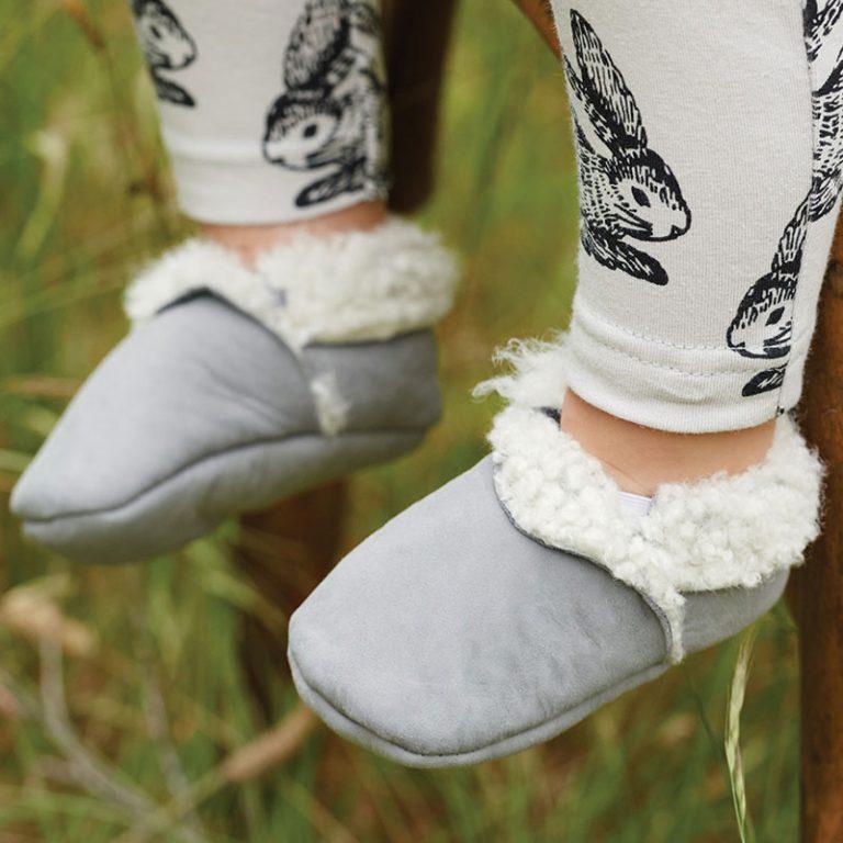 Nature Baby Lambskin Booties Grey