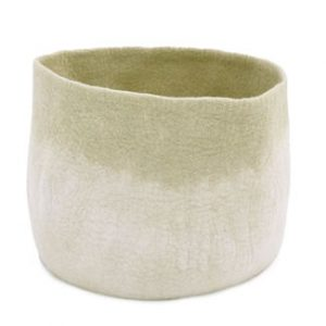 Muskhane Bicolour Calabash Storage Basket Natural/Lemongrass