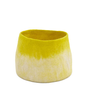 Muskhane Calabash Storage Basket Natural/Sulphur Flower