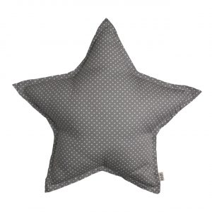 Numero 74 Star Cushion White Dots Grey