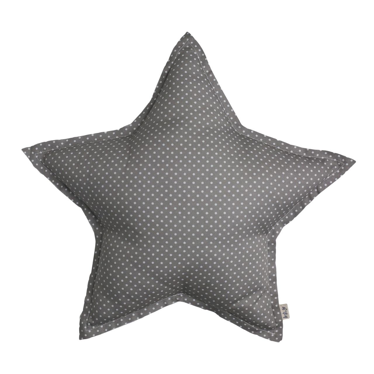 Numero 74 Star Cushion White Dots Grey