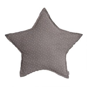 Numero 74 Star Cushion Stars Silver Grey