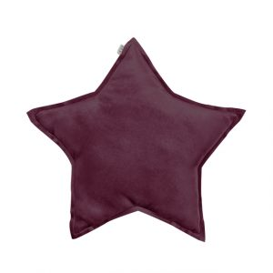 Numero 74 Star Cushion Velvet Red Macaron