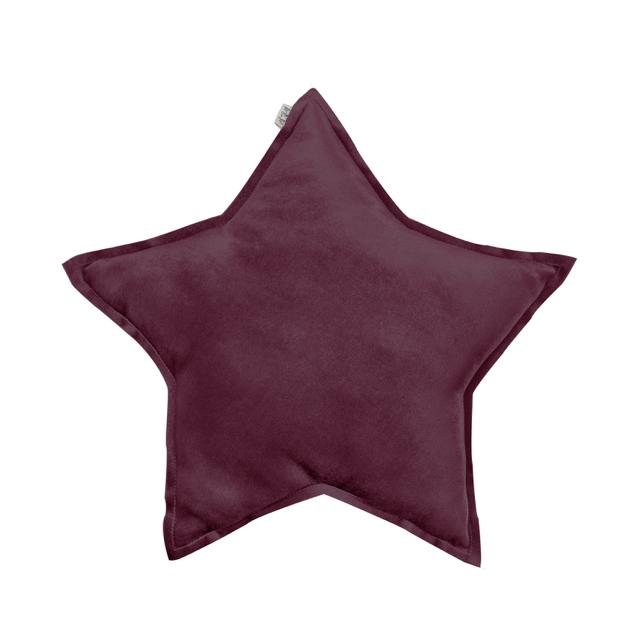 Numero 74 Star Cushion Velvet Red Macaron