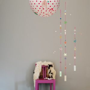 Mimi'lou Decal String of Stars Pink