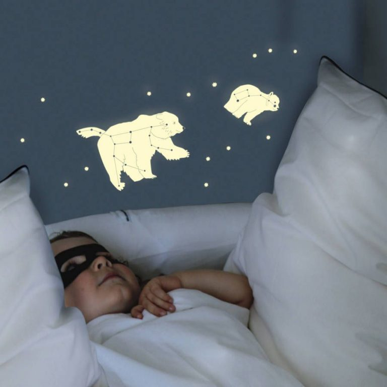 Mimi'lou Glow in the Dark Decal Bear Constellation