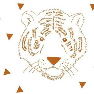 Mimi'lou Animal Head Tiger Decal