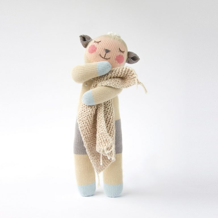 Blabla Wooly The Sheep Big Knitted Toy