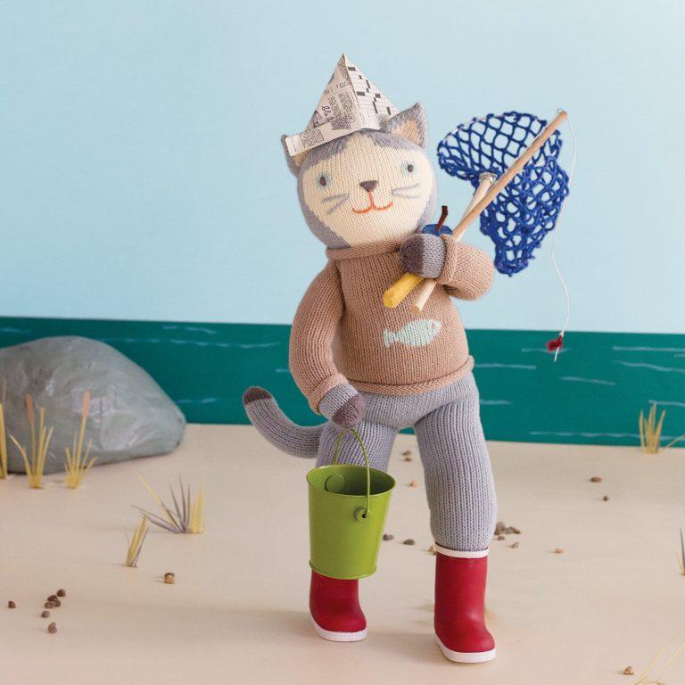 Blabla Sardine The Cat Big Knitted Toy