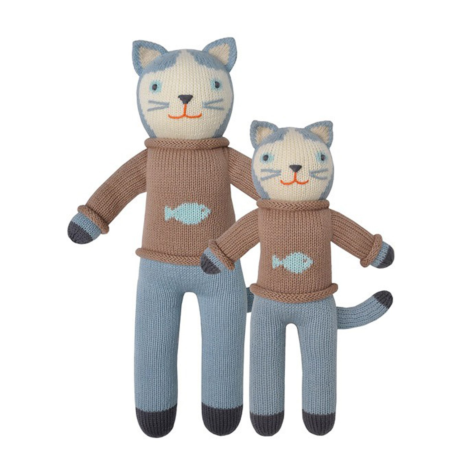 Blabla Sardine The Cat Big Knitted Toy