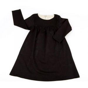 Kin Gathered Front Dress Black