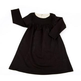 Kin Gathered Front Dress Black