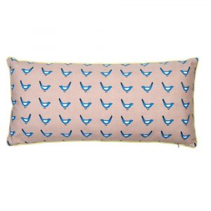 Mimi'lou Blue Bird Pink Cushion