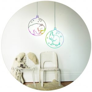 Mimi'lou Decal Rabbit Bauble