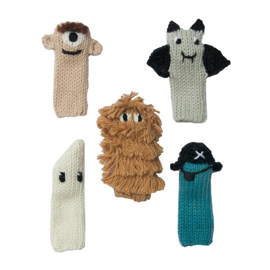 Blabla Knitted Finger Puppets Spooky Set