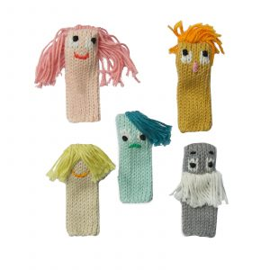 Blabla Knitted Finger Puppets Expressionists Set