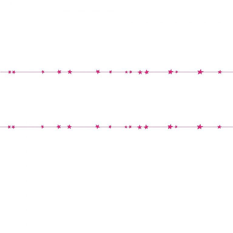 Mimi'lou Wall Border Decal Neon Pink Stars