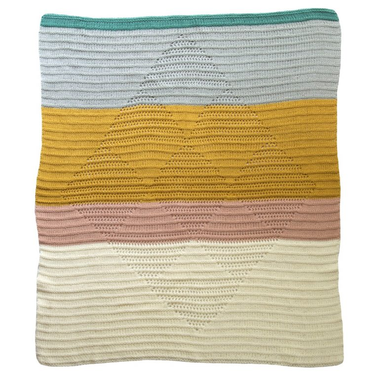 Blabla Diamond Blanket Sahara Mustard