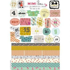Mimi'lou Sticker DIY Advent Calendar Kit
