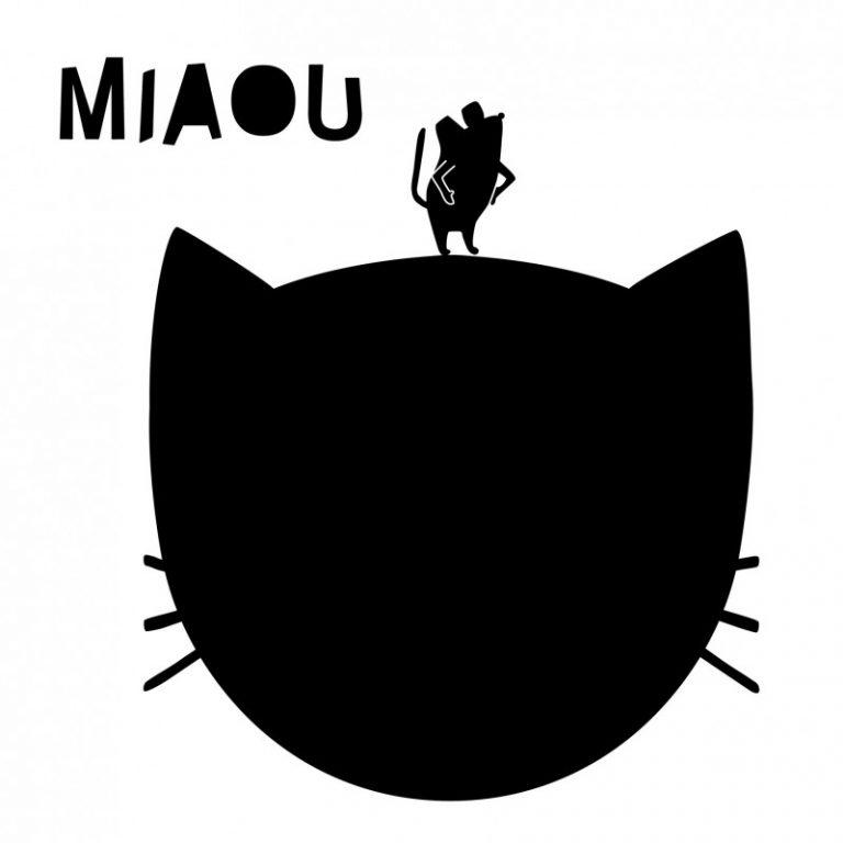 Mimi'lou Blackboard Decal Miaou