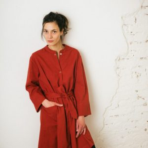 Kin Claude Jacket Dress Womens Rust