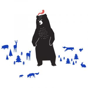 Mimi'lou Grizzly Bear Wall Decal