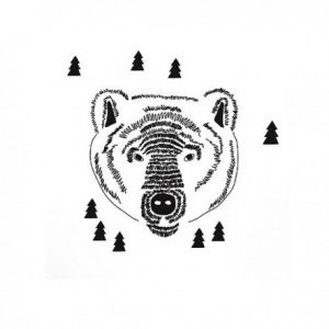 Mimi'lou Animal Head Bear Decal