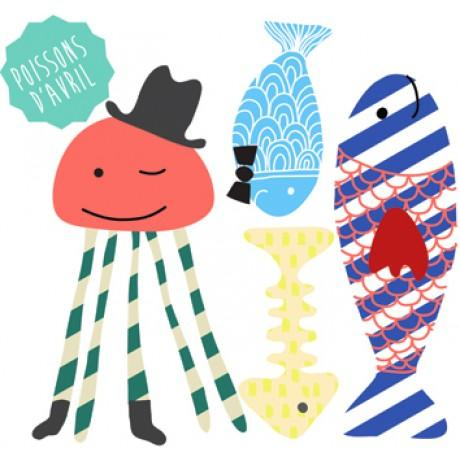 Mimi'lou Mini Decal Fish