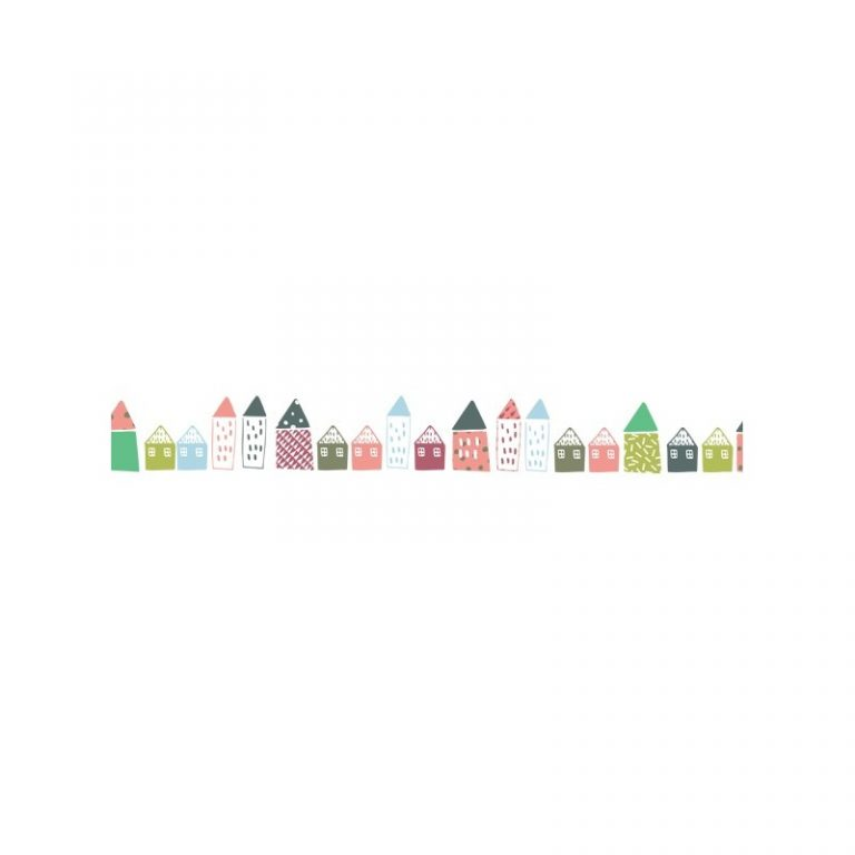 Mimi'lou Wall Border Decal Little Houses
