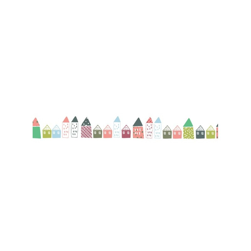 Mimi'lou 5m Wall Border Decal Little Houses