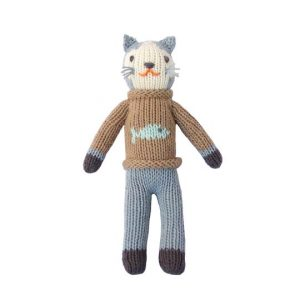 Blabla Sardine The Cat Knitted Rattle