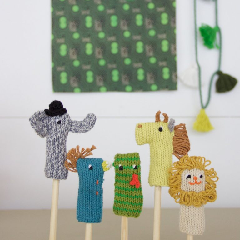 Blabla Knitted Finger Puppets Jungle Set