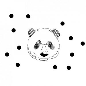 Mimi'lou Animal Head Panda Decal