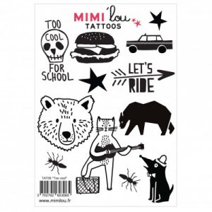 Mimi'lou Temporary Tattoos Too Cool