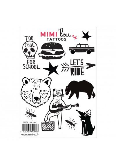 Mimi'lou Temporary Tattoos Too Cool