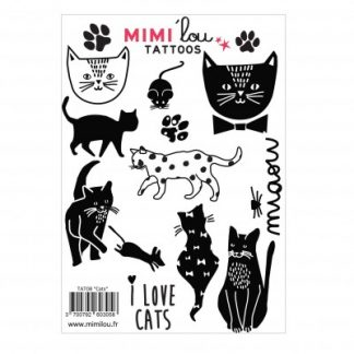 Mimi'lou Temporary Tattoos Cats