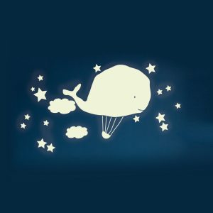 Mimi'lou Decal Glow in the Dark Whale