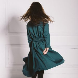 Kin Dervish Dress Petrol