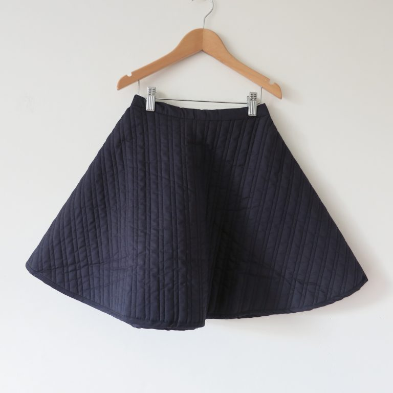 Kin Quilted Mobius Skirt Ink
