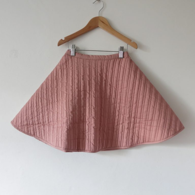 Kin Quilted Mobius Skirt Dusty Pink