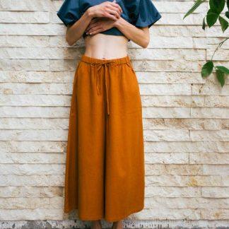 Kin Womens Volume Culotte Caramel