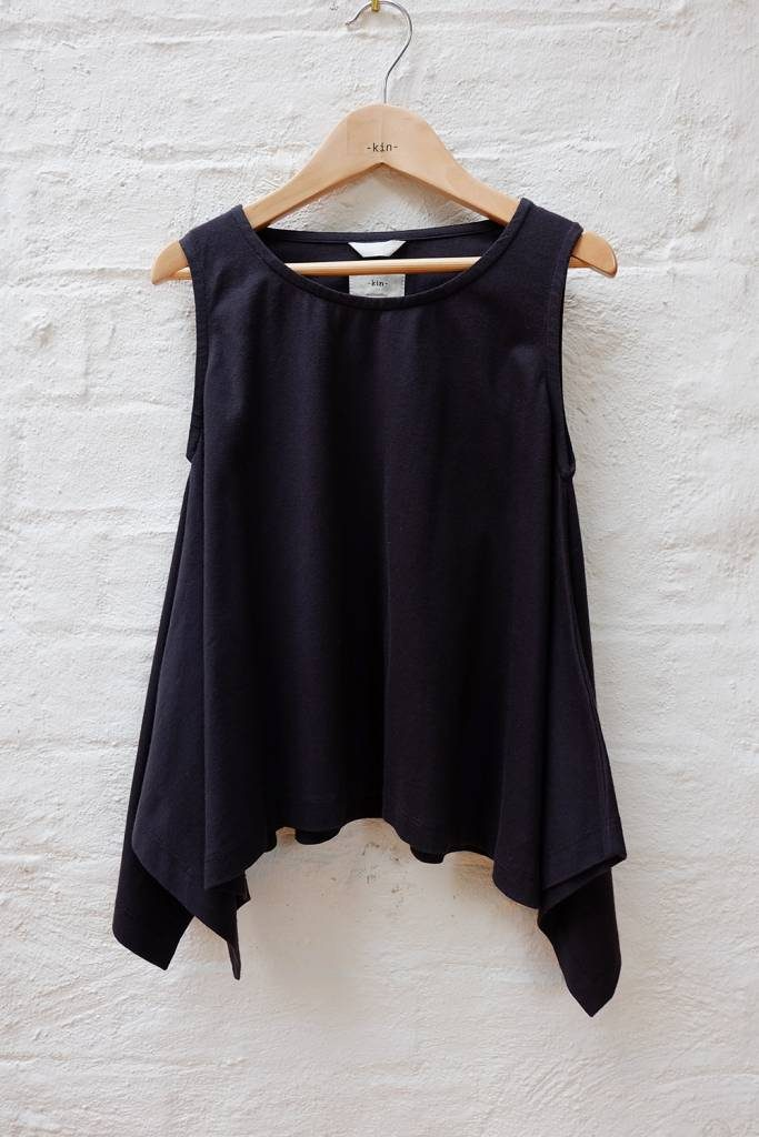 Kin Winged Tank Top Black