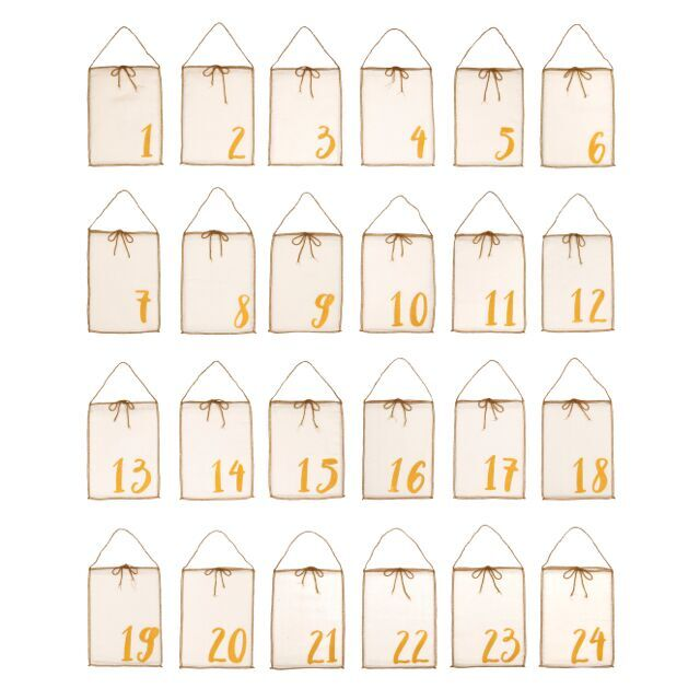Numero 74 Advent Calendar Gift Bags Natural