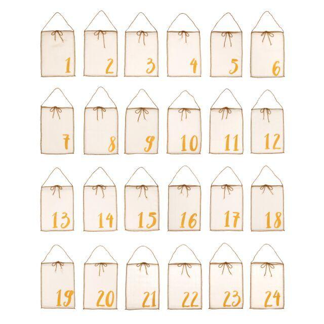 Numero 74 Advent Calendar Gift Bags Natural