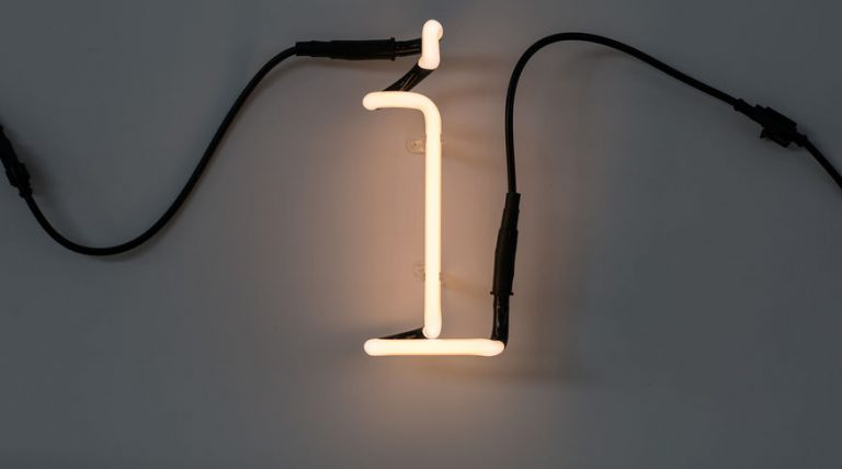 Seletti Neon Font Lamp I Lowercase