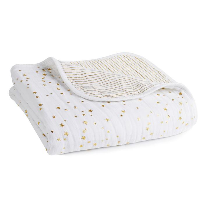 Aden + Anais Dream Blanket Metallic Gold