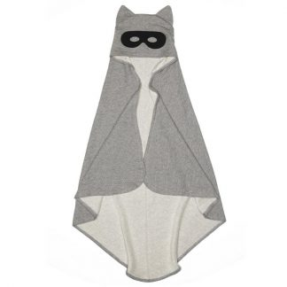 Beau Loves Hero Hooded Towel Cape With Ears Grey