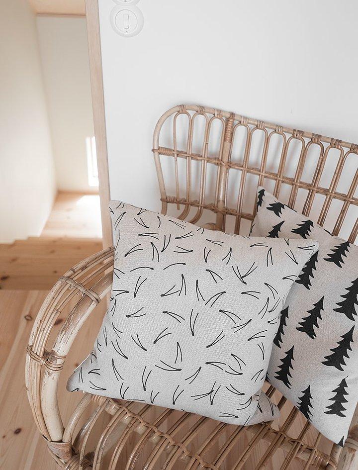 Fine Little Day Cushion Cover Barr Black