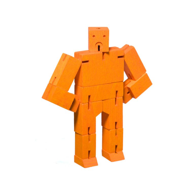 Areaware Cubebot Micro Orange