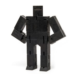 Areaware Cubebot Ninja Small Black